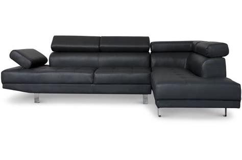 canape avec tetiere canapé d 39 angle gauche noir avec têtière relevable mildura