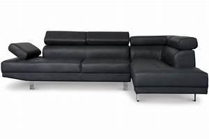 canape d39angle gauche noir avec tetiere relevable mildura With tapis design avec canape angle tetiere