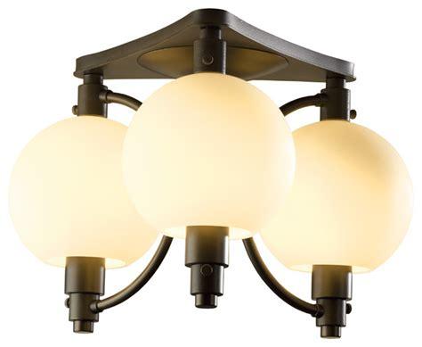 asian flush mount ceiling light pluto semi flush light opal natural iron asian flush