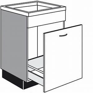 Küchen Unterschrank Auszug : sp len unterschrank mit 1 auszug und 1 feste blende ~ Markanthonyermac.com Haus und Dekorationen