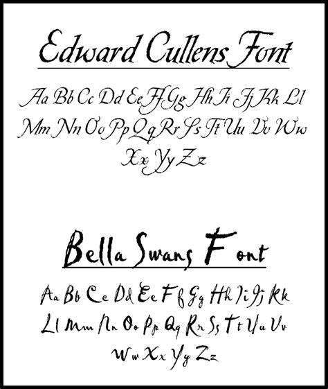 What Font Should Be Used When Writing A Resume by Fonts Used In Twilight By Esmecullen On Deviantart