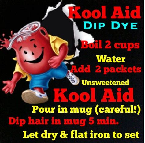 dye  hair  kool aid kool aid dip dye