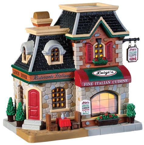 lemax  luigis fine italian cuisine christmas village building  lifeandhomecom