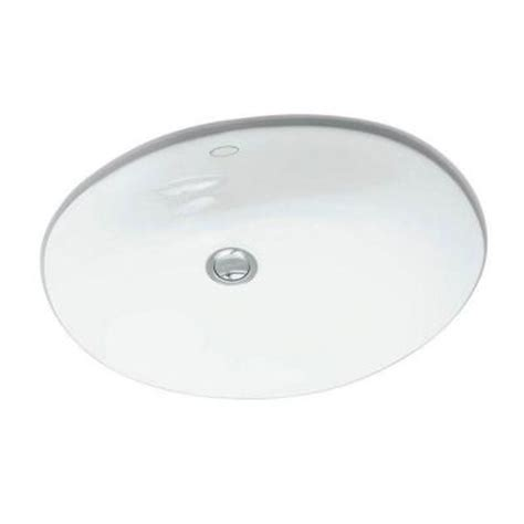 kohler caxton vitreous china undermount bathroom sink in white with overflow drain k r2210 0