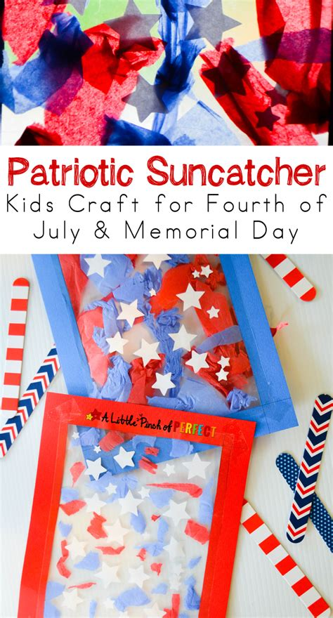 patriotic suncatcher craft for fourth of july 545 | Patriotic Suncatcher Kids Craft for Fourth of July Memorial Day A Little Pinch of Perfect 7