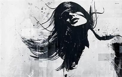 Graffiti Wallpapers Woman Flowing Hair Desktop Abstract