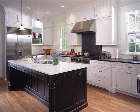 kitchens with white cabinets and black countertops choosing the right finishing for black and white cabinets 9862