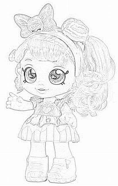 Kindi Coloring Dolls Pages Donatina Kid Clipart