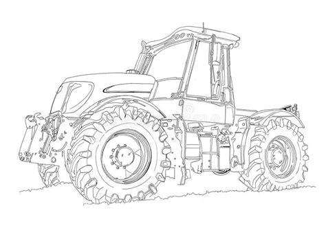 disegno  arte dellillustrazione del trattore agricolo
