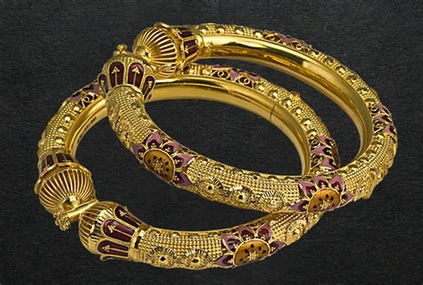 p c chandra jewellers purple and gold bangles jewels and baubles in 2019 jewelry bangles