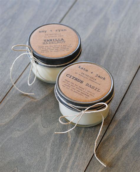 48 Eco Friendly Wedding Favors Handmade Soy Candles With
