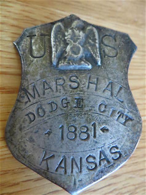 dodge city kansas marshall badge 1881 the real mccoy