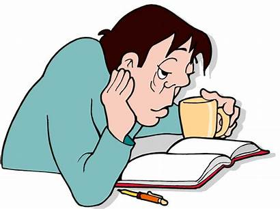Fatigue Clipart Tired Fight Because Student Foods