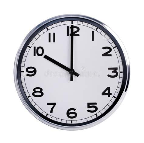 montre de bureau l 39 horloge ronde de bureau montre dix heures photo stock