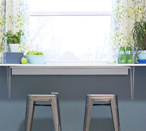 Small Kitchen Table Decorating Ideas by How To Install A Diy Breakfast Counter Under A Window