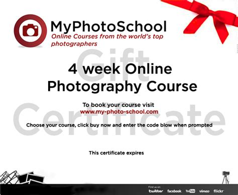 Great Christmas Idea Gift An Online Photography Course