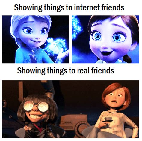 Online Friends Meme - disney funny frozen quotes quotesgram