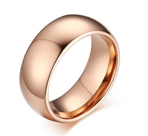8mm gold tungsten carbide rings tungsten steel plain
