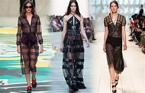 robe noire transparente tendance mode de l39ete 2015 20 With tendances de mode 2015