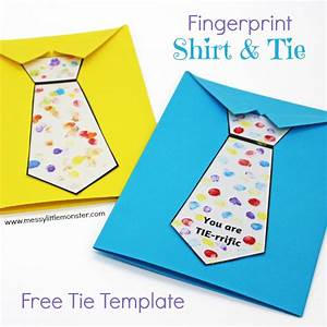 Father's Day Tie Card (with free printable tie template ...