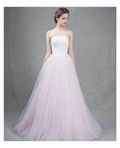 feminine ball gown strapless sweep train tulle wedding With strapless tulle wedding dress