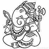 Ganesha Hatchet Noose sketch template