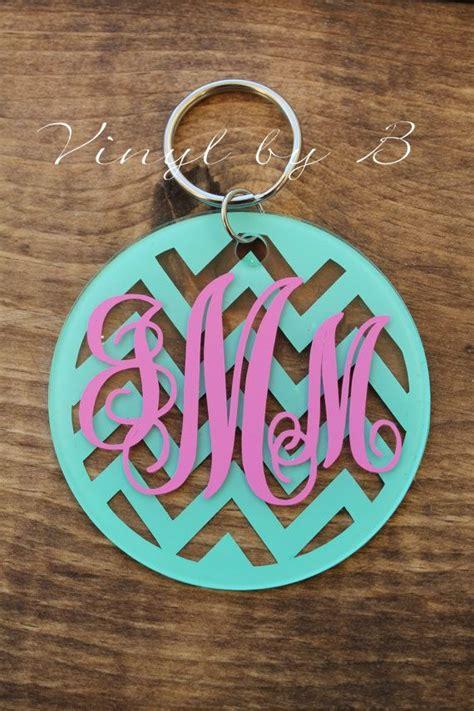 chevron  letter monogram acrylic keychain etsy keychain design vinyl crafts monogram