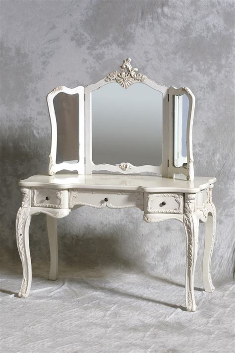 French Style Antique And Vintage Makeup Vanity Table With