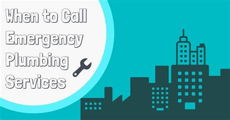 emergency plumbing service when to call emergency plumbing services property