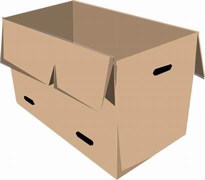 Box Clipart Open Cardboard Clip Boxes Cliparts