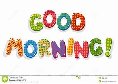 Morning Buongiorno Lettere Letters Illustrazione Banner Vettoriale