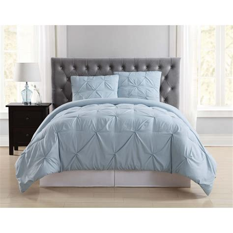 Light Blue Comforter Set by Everyday Pleated Light Blue King Comforter Set Cs1969lbkg