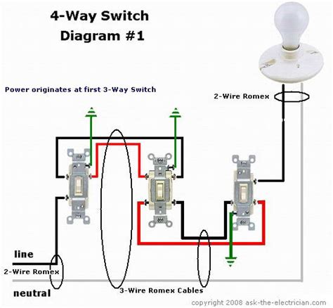 Wire Schematic Switch Schematic Combo Diagram Power To Constant by How To Wire 4 Way Switch Devices Integrations