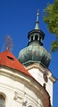 The tower of St.Margarette church in Břevnov monastery ...
