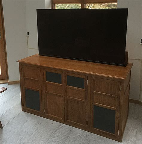 tv lift cabinet design tv lift cabinet in oak popup tv cabinet hidden tv cabinet