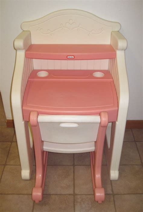 little tikes desk and chair little tikes desk victorian child play size pink white
