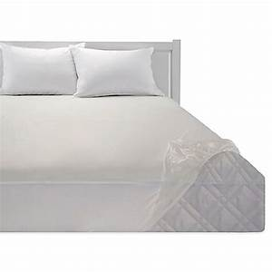 Bedding essentialstm vinyl fitted mattress protector bed for Bed bath and beyond plastic mattress cover