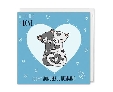 Our extensive range features cute, romantic, funny, and cheeky anniversary cards for boyfriends, girlfriends, husbands and wives. Anniversary Card For Husband - Hand Drawn Cats | KIO Cards