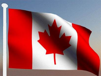 Canada Gifs Flag Canadian Animated Drapeau Represent