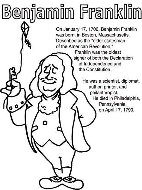 Ben Franklin Coloring Pages - Eskayalitim