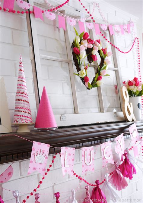 diy princess party decorations  silhouette crafts