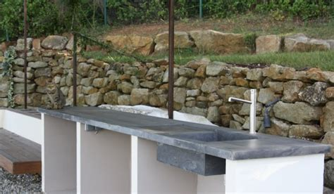 plan de travail pour cuisine exterieure la cuisine béton plan de travail suprabéton balian beton atelier