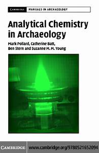 052165209x Cambridge University Press Analytical Chemistry