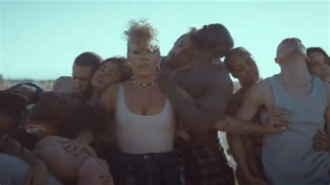 Pink Makes Powerful Statement in Political 'What About Us ...