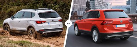 seat ateca vs tiguan seat ateca vs volkswagen tiguan suv comparison carwow