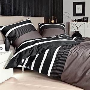 Moderne Bettwäsche 155x220 : sch ne bettw sche aus satin schwarz 155x220 von janine bettw sche ~ Markanthonyermac.com Haus und Dekorationen
