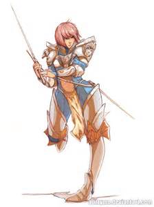 Anime Female Knight Drawing