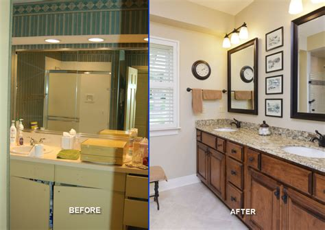 appealing bathroom remodels before after showing marble