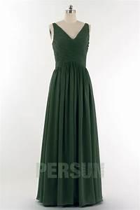 solde robe demoiselle d39honneur verte sapin taille 48 With robe vert sapin