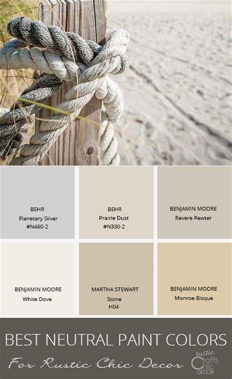 The Best Paint Colors For The Best Neutral Paint Colors To Enhance Your Rustic Style